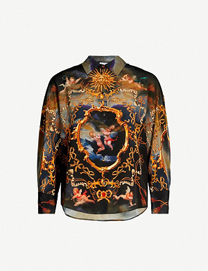 CLAUDIE PIERLOT Graphic-print silk shirt