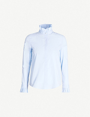 CLAUDIE PIERLOT Ruffled collar cotton shirt