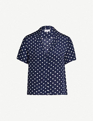 CLAUDIE PIERLOT Polka dot crepe blouse