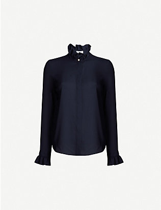 CLAUDIE PIERLOT: Long-sleeved crepe blouse