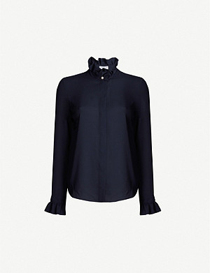 CLAUDIE PIERLOT Long-sleeved crepe blouse