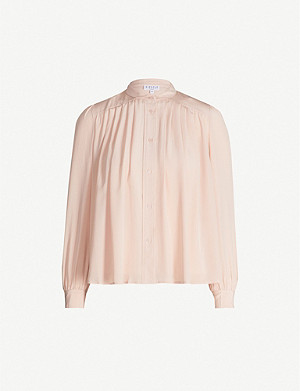 CLAUDIE PIERLOT Long-sleeved silk-chiffon shirt