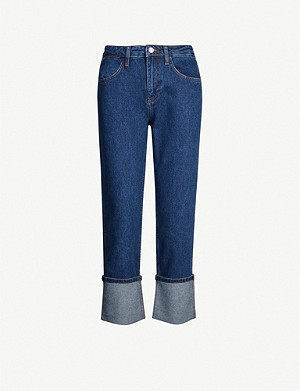 CLAUDIE PIERLOT Poph cropped straight high-rise jeans
