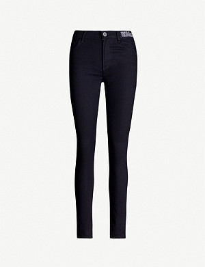 CLAUDIE PIERLOT Power branded-patch skinny high-rise jeans