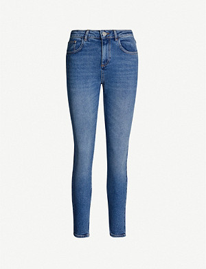 CLAUDIE PIERLOT Pyros cropped skinny high-rise jeans