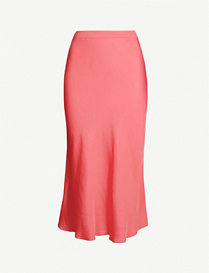 CLAUDIE PIERLOT Selma flared satin skirt