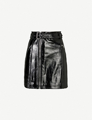 CLAUDIE PIERLOT Casino patent-leather mini skirt