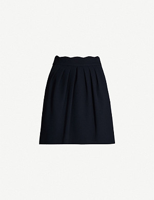 CLAUDIE PIERLOT Sylviah scallop-edge woven mini skirt