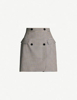 CLAUDIE PIERLOT Seranah houndstooth twill mini skirt