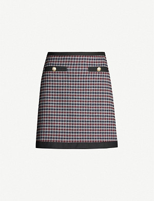 CLAUDIE PIERLOT Sagesse checked woven mini skirt