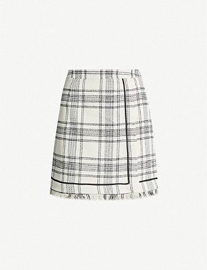 CLAUDIE PIERLOT Suzannah checked boucle mini skirt