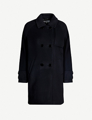 CLAUDIE PIERLOT Graniteh double-breasted wool-blend coat