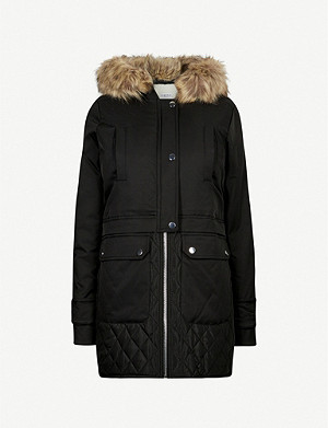 CLAUDIE PIERLOT Gravier hooded quilted shell coat