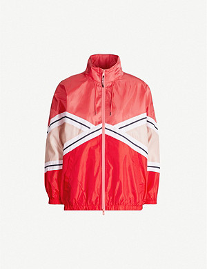 CLAUDIE PIERLOT Contrast-panel satin jacket