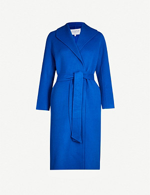 CLAUDIE PIERLOT Tie-belt wool-blend coat