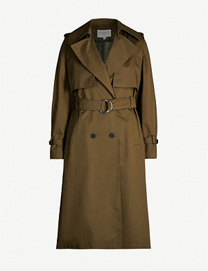 CLAUDIE PIERLOT Double-breasted twill coat