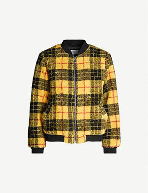 CLAUDIE PIERLOT Fazioh checked faux-fur jacket