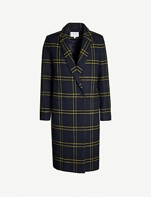 CLAUDIE PIERLOT Checked wool-blend coat