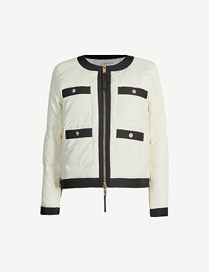 CLAUDIE PIERLOT Contrast-trimmed padded shell jacket