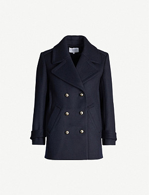CLAUDIE PIERLOT Gill double-breasted wool-blend coat