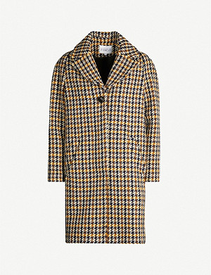 CLAUDIE PIERLOT Houndstooth-patterned wool-blend coat