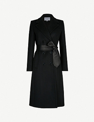 CLAUDIE PIERLOT Gratteciel belted wool-blend coat