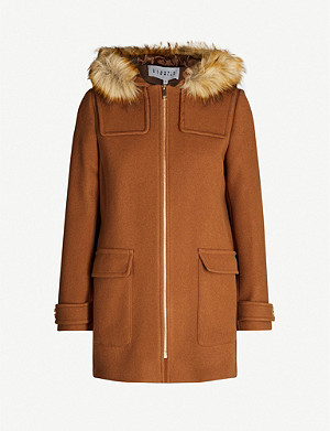 CLAUDIE PIERLOT Greg hooded wool and cashmere-blend coat