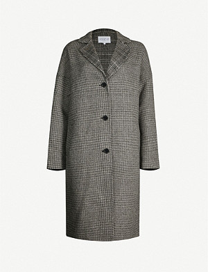 CLAUDIE PIERLOT Galva check-print wool-blend coat