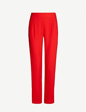 CLAUDIE PIERLOT Pampille striped-trim high-rise crepe trousers