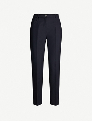 CLAUDIE PIERLOT Pangoh tapered high-rise wool-blend trousers