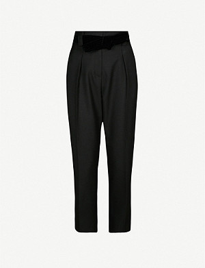 CLAUDIE PIERLOT Pauletta tapered high-rise twill trousers