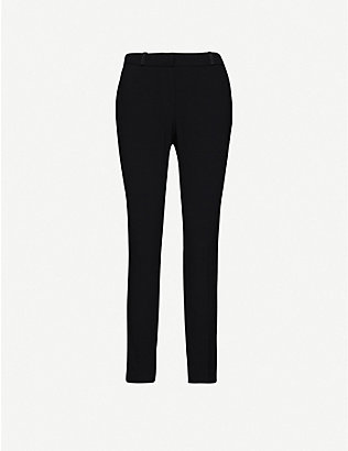 CLAUDIE PIERLOT: Poulin slim mid-rise woven trousers