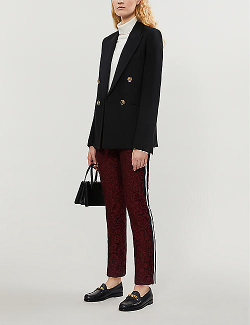 CLAUDIE PIERLOT High-rise straight lace trousers