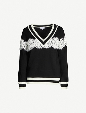 CLAUDIE PIERLOT MikeH19 lace wool-blend jumper