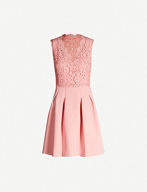 93745f890 CLAUDIE PIERLOT Ragazza contrast-skirt lace and crepe dress