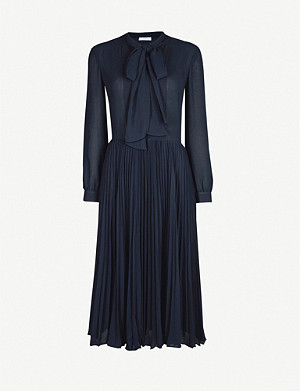 CLAUDIE PIERLOT Pussybow crepe midi dress