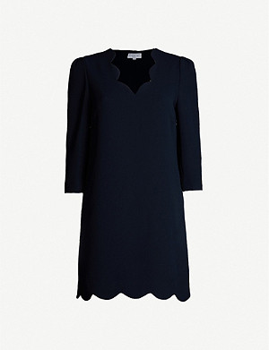 CLAUDIE PIERLOT Riva scalloped-edge crepe dress