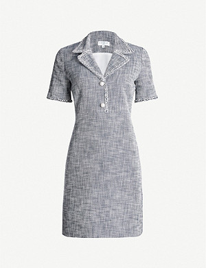 CLAUDIE PIERLOT Revere-collar tweed mini dress
