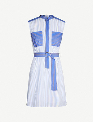 CLAUDIE PIERLOT Raukieh high-neck striped poplin dress
