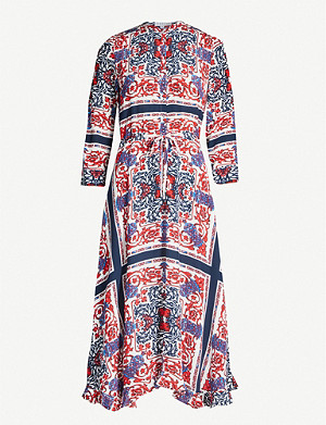 CLAUDIE PIERLOT Graphic-print crepe midi dress