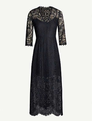 CLAUDIE PIERLOT Scalloped floral-lace dress