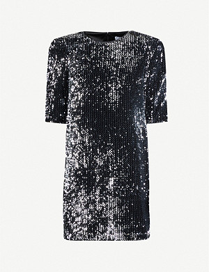 CLAUDIE PIERLOT Puffed-sleeve sequinned mini dress