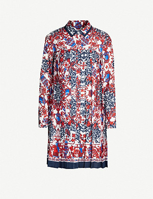 CLAUDIE PIERLOT Graphic-print crepe dress