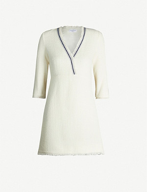 CLAUDIE PIERLOT Rufila contrast-tape knitted mini dress