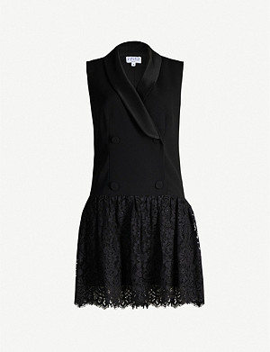 CLAUDIE PIERLOT Retro crepe and lace mini dress
