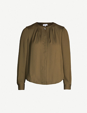 CLAUDIE PIERLOT Collarless crepe blouse