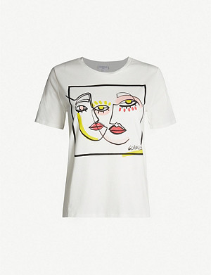 CLAUDIE PIERLOT Graphic-print cotton-jersey T-shirt