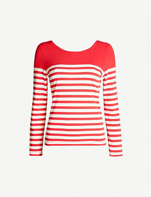 CLAUDIE PIERLOT Striped long-sleeved jersey top
