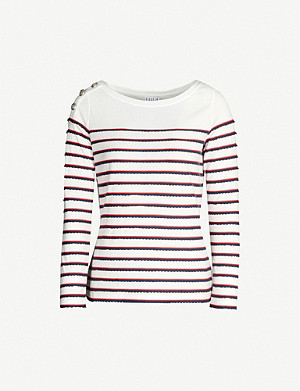 CLAUDIE PIERLOT Taylor stripe cotton-jersey T-shirt