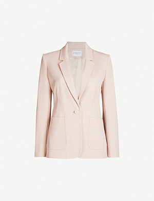 CLAUDIE PIERLOT Valeria single-breasted ribbed woven blazer